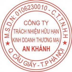 khắc dấu An Khánh