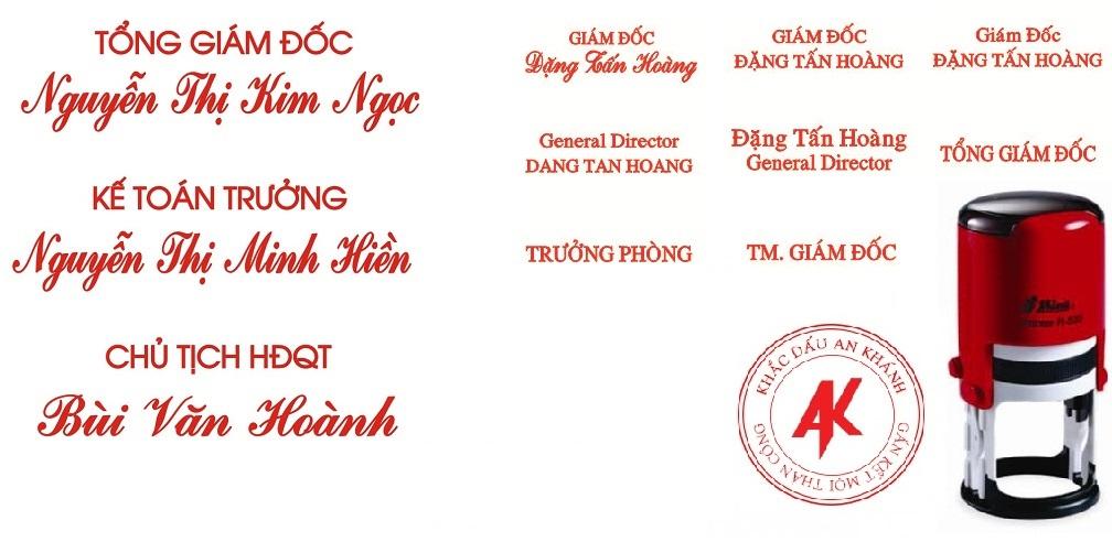 khắc dấu liền mực tại Hà Nội