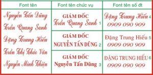 Hình ảnh: Khắc dấu tên, chức danh tại An Khánh