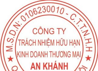 Khắc dấu tròn công ty An Khánh
