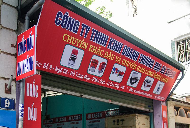 Khắc dấu logo tại An Khánh