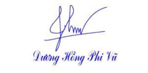 Mẫu dấu chữ ký cá nhân