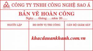 Dịch vụ khắc dấu bản vẽ hoàn công ở đâu tốt nhất Hà Nội?