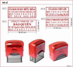 Hình ảnh khắc dấu mã số thuế