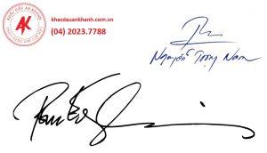 Khắc dấu chữ ký đẹp tại An Khánh