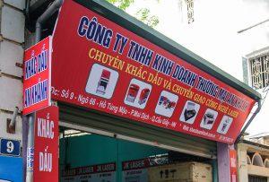 Khắc dấu lấy ngay giá rẻ tại Hà Nội