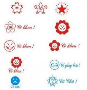 Hình ảnh khắc dấu logo tiểu học