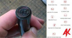 Con dấu Inkan làm trên kim loại