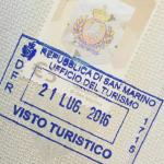 Dấu hộ chiếu Cộng hòa San Marino