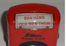 Khắc dấu bán hàng qua điện thoại giá rẻ