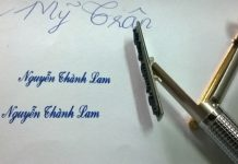 Mẫu bút dấu chữ ký
