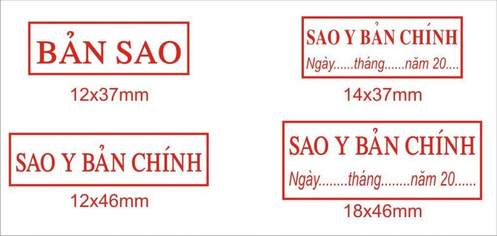 Khắc dấu sao y bản chính tại Hà Nội