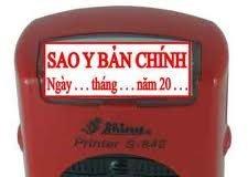 khắc dấu sao y bản chính lấy ngay tại Hà Nội