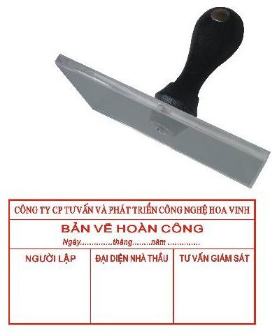 Nhận khắc dấu hoàn công giá rẻ, chất lượng, lấy ngay tại Hà Nội