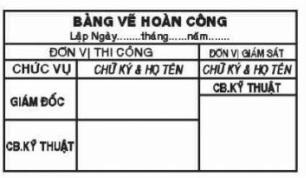 Mẫu khắc dấu hoàn công mới nhất tại An Khánh