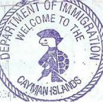 Dấu hộ chiếu Quần đảo Cayman