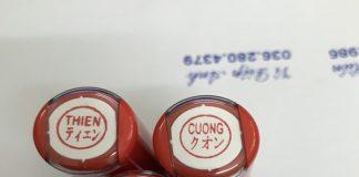 Ứng dụng của dấu tên tiếng Nhật
